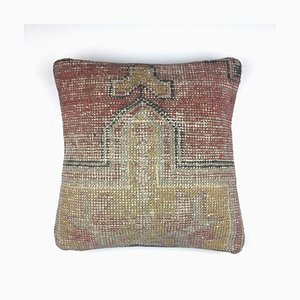 Vintage Turkish Persian Distressed Carpet Cushion Cover