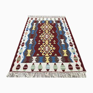 Vintage Turkish Oushak Shabby Wool Kilim Rug 180x118cm