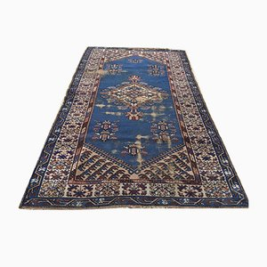 Vintage Turkish Vegetable Dye Shabby Rug 210x126cm