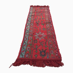Vintage Turkish Moroccan Narrow Handmade Tribal Runner Rug 125x39 cm