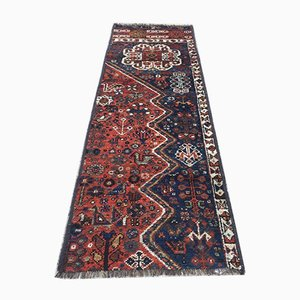 Vintage Middle Eastern Vegetable Dye Handmade Tribal Runner Rug 185x59 cm