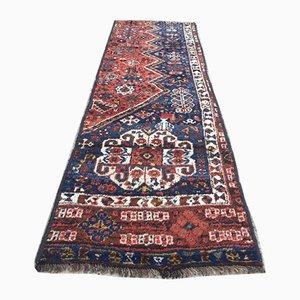 Vintage Middle Eastern Vegetable Dye Handmade Tribal Runner Rug 205x61 cm