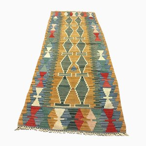 Vintage Turkish Shabby Wool Kilim Runner Rug 220 x 78 cm