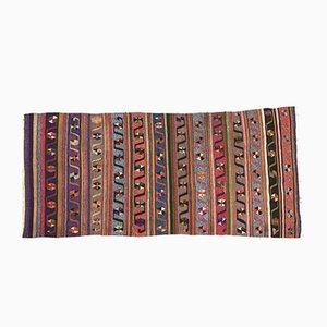 Vintage Turkish Shabby Tribal Kilim Runner Rug 180 x 82 cm