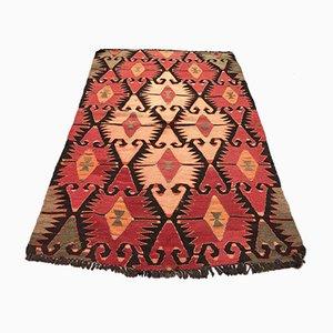 Vintage Turkish Traditional Shabby Wool Kilim Rug 130x80cm