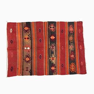 Vintage Turkish Traditional Shabby Wool Kilim Rug 125x88cm