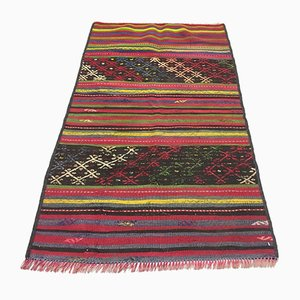 Vintage Turkish Traditional Shabby Wool Kilim Rug 130x75cm