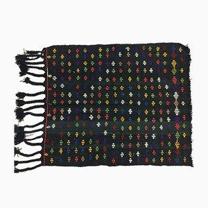 Vintage Turkish Traditional Shabby Wool Kilim Rug 125x105cm