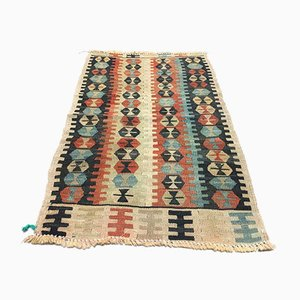 Vintage Turkish Traditional Shabby Wool Kilim Rug 94x59cm