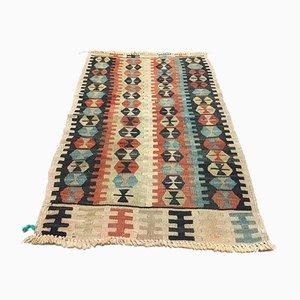 Vintage Turkish Traditional Shabby Wool Kilim Rug 94x59cm