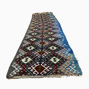 Türkischer Vintage Shabby Kelim Läufer Teppich 240 x 69 cm