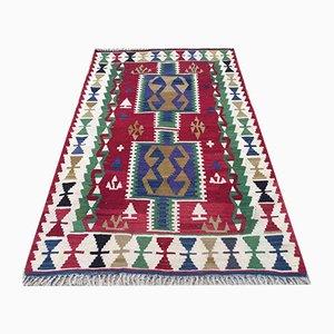 Türkischer Vintage Kelim-Teppich aus Shabby Wolltepe 170x105cm