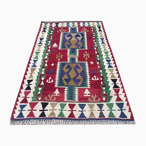 Vintage Turkish Shabby Wool Tribal Kilim Rug 170x105cm