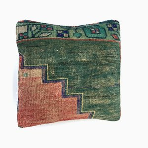 Vintage Turkish Moroccan Distressed Kilim Carpet Cushion Cover