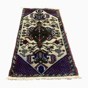 Small Vintage Turkish Tribal Short Runner Rug