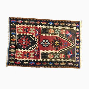 Vintage Turkish Traditional Country Home Decor Wool Kilim Rug