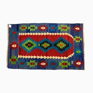Small Vintage Turkish Traditional Country Home Decor Wool Kilim Rug