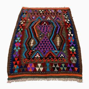 Small Vintage Turkish Traditional Country Home Decor Wool Kilim Rug