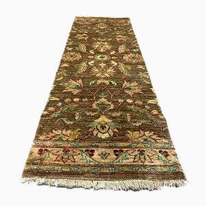 Vintage Afghan Ziegler Narrow Bohemian Runner Rug