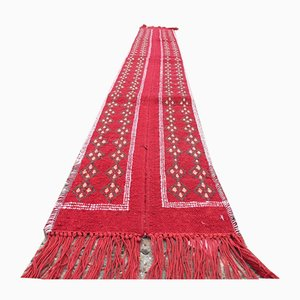 Vintage Tunisian Narrow Kilim Runner Rug