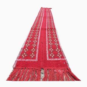 Vintage Tunisian Narrow Kilim Runner Rug