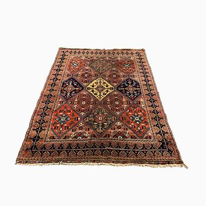 Vintage Navy & Red Tribal Bakhtiari Rug