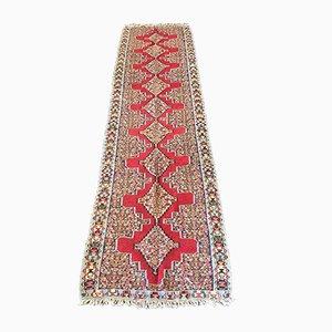 Vintage Middle East Handmade Senneh Kilim Runner Rug