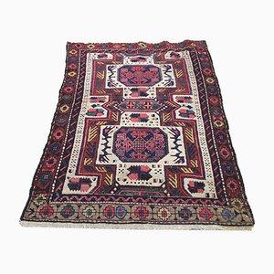Vintage Turkish Persian Handmade Wool Oriental Kazak Rug