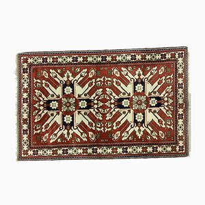 Vintage Azeri Country Home Caucasian Eagle Tribal Rug