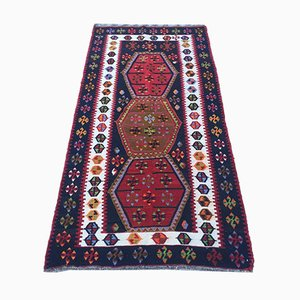 Vintage Turkish Rustic Country House Kilim Rug