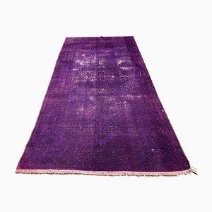 Türkischer Überfärbter Türkischer Vintage Teppich aus Wolle