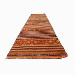 Vintage Turkish Shabby Chic Kilim Runner Rug