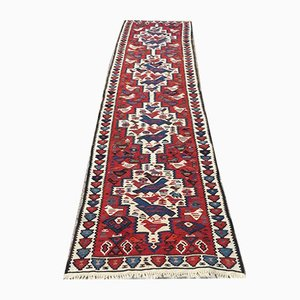 Vintage Turkish Wool Shabby Chic Kilim Runner Rug
