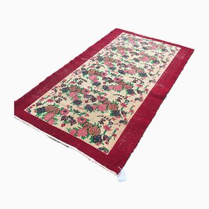 Vintage Turkish Persian Handmade Distressed Wool Tribal Rug