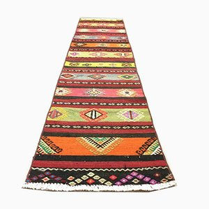 Vintage Turkish Narrow Kilim Runner Rug