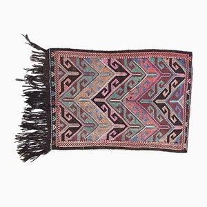 Vintage Turkish Wool Shabby Chic Kilim Rug