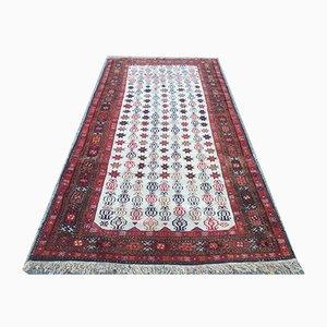 Vintage Persian Handmade Wool Turkmen Carpet
