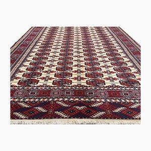 Vintage Persian Handmade Wool Bokhara Turkmen Rug