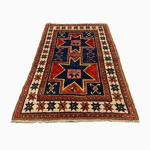 Vintage Turkish Handwoven Star Kazak Oriental Rug