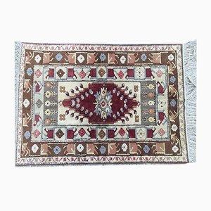 Vintage Turkish Handmade Wool Oriental Kula Oushak Rug