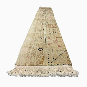 Vintage Narrow Afghan Ziegler Tribal Runner Rug