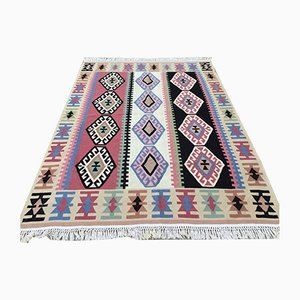 Vintage Turkish Persian Wool Country Home Kilim Rug