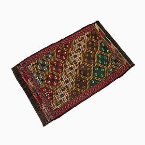 Small Vintage Traditional Turkish Kilim Rug