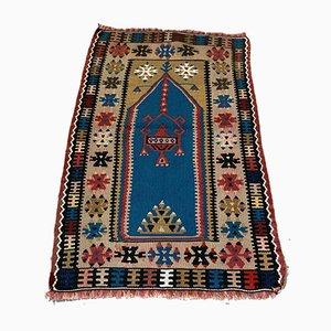 Small Vintage Traditional Turkish Wool Kilim Prayer Rug