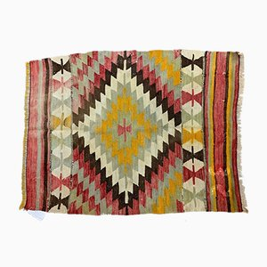 Vintage Turkish Country Home Kilim Rug