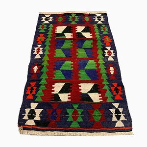 Small Vintage Turkish Square Kilim Rug
