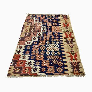 Small Vintage Turkish Wool Kilim Rug