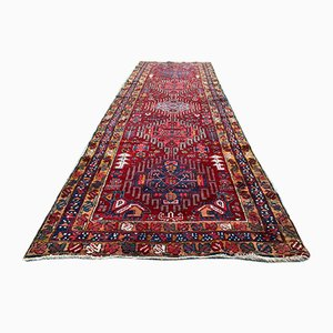 Vintage Handmade Wool Tribal Karaja Long Runner Rug