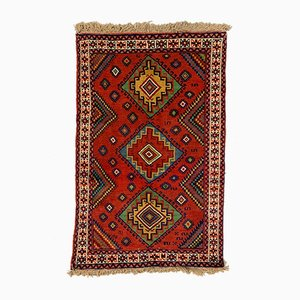 Vintage Red & Blue Tribal Kazak Rug