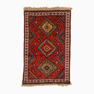 Vintage Red & Blue Tribal Kazak Rug